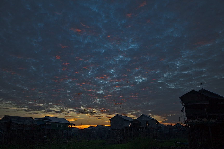 Sunset at Kampong Phluk